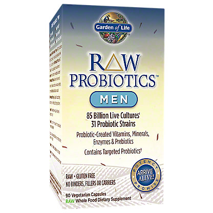 Garden of Life Raw Probiotics Men Vegetarian Capsules,90 CT