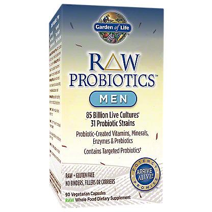 Garden of Life Raw Probiotics Men Vegetarian Capsules, 90 ct