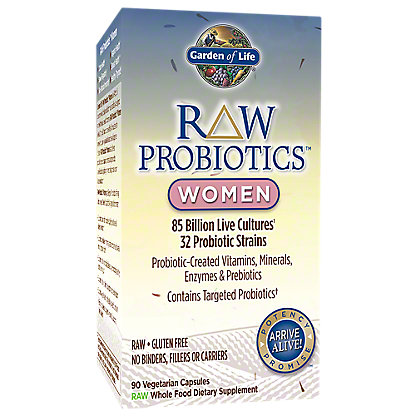 Garden of Life Raw Probiotics Women Vegetarian Capsules,90 CT