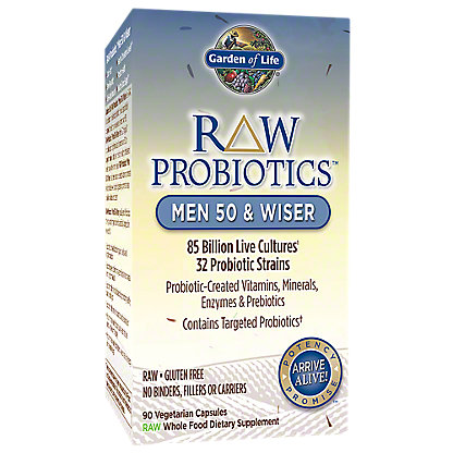 Garden of Life Raw Probiotics Men 50 Wiser, 90 ct
