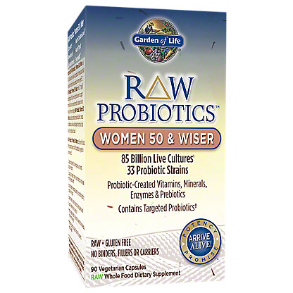 Garden of Life Raw Probiotics Women 50 & Wiser Vegetarian Capsules, 90 ct