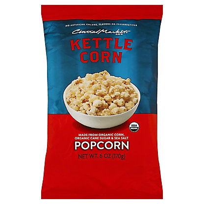 Central Market Organics Kettle Corn Popcorn, 6 oz