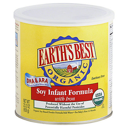 Earths Best Organic Infant Soy Formula with Iron, 23.2OZ