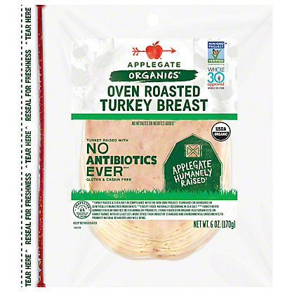 Applegate Organic Roasted Turkey Breast,6 OZ