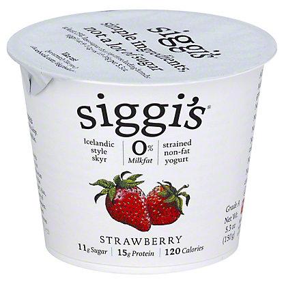 Siggi's Strained Non-Fat Icelandic Style Skyr Strawberry Yogurt, 5.3 oz