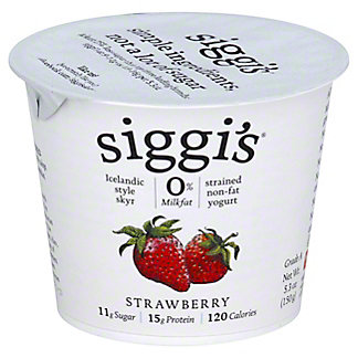 Siggi's Strained Non-Fat Icelandic Style Skyr Strawberry Yogurt, 5.3 oz