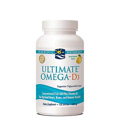 Nordic Naturals Ultimate Omega-D3 Lemon Flavor Soft Gels,120 CT