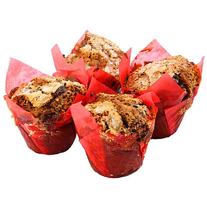 Central Market Chocolate Chocolate Muffin, 4 ct