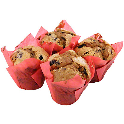 Central Market Very Very Blueberry Muffin 4 Count, EACH