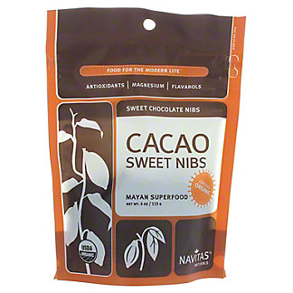 Navitas Naturals Organic Cacao Sweet Nibs,4 OZ