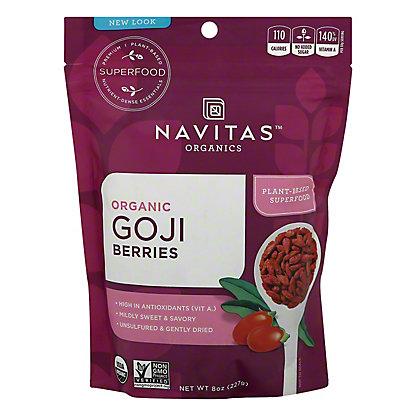 Navitas Naturals Goji Power Organic Goji Berries,8 OZ
