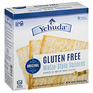 Yehuda Matzos Gluten Free Matzo-Style Square Cracker,10.5 OZ