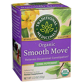 Traditional Medicinals Organic Peppermint Smooth Move Stimulant Laxative Tea Bags, 16 ea