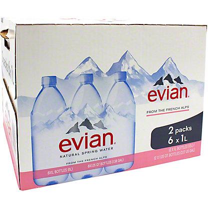 EVIAN 6PK 1LTR CASE