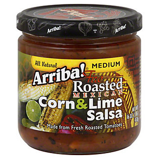 Arriba! Fire Roasted Mexican Corn & Lime Medium Salsa,16 OZ