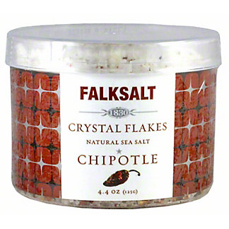 Falksalt Crystal Flakes Chipotle Natural Sea Salt, 4.4 oz