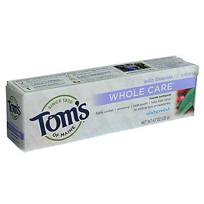 Tom's of Maine Whole Care Wintermint Toothpaste with Fluoride,4.7 OZ