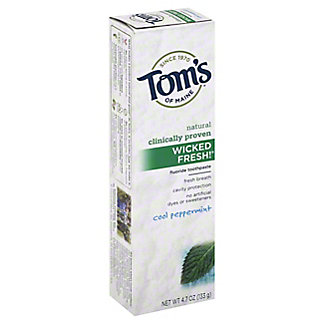 Toms of Maine Wicked Fresh! Toothpaste Cool Peppermint,4.7 OZ