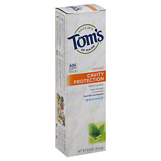 Tom's of Maine Natural Cavity Protection Spearmint Toothpaste with Fluoride,5.5 OZ