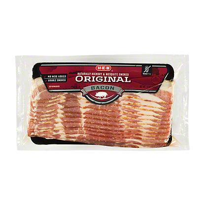 H-E-B Premium Original Smoked Bacon, 12 oz