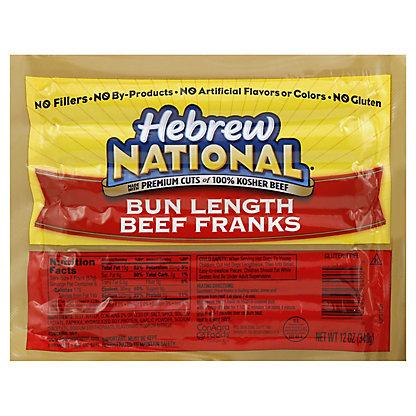 Hebrew National Bun Length Beef Franks,6 CT