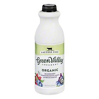 Green Valley Organics Organic Lactose Free Blueberry Pom Acai Kefir,32 OZ