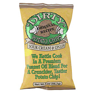 Dirty All Natural Sour Cream & Onion Potato Chips,2 oz
