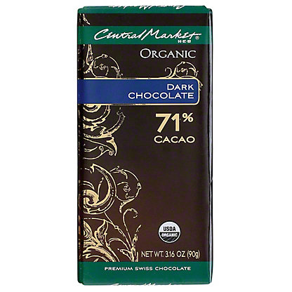 Central Market Organic 71% Cacao Dark Chocolate, 3.16 oz