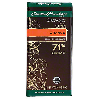 Central Market Organic 71% Cacao Orange Dark Chocolate, 3.16 oz