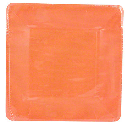 CASPARI Salad Plate Grosgrain Deep Orange,8 ct