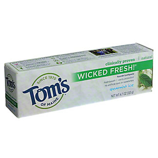 Tom's of Maine Wicked Fresh! Spearmint Ice Toothpaste with Fluoride,4.7 OZ