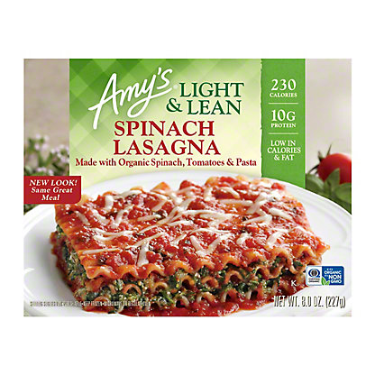Amy's Light & Lean Spinach Lasagna, 8 oz