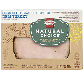 Hormel Natural Choice Cracked Black Pepper Deli Turkey, 7 oz