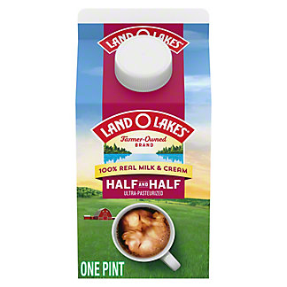 Land O Lakes Traditional Half & Half Milk and Cream, 16 oz
