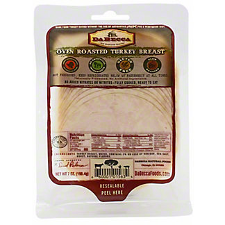 Dabecca Natural Foods Carved Oven Roasted Turkey Breast, 7 oz