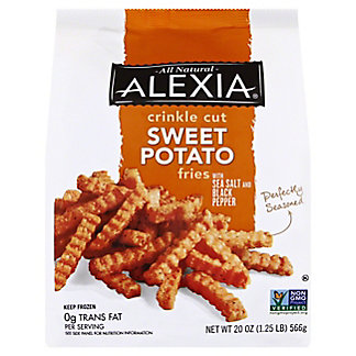 Alexia Crinkle Cut Sweet Potato Fries with Sea Salt and Pepper, 20 oz