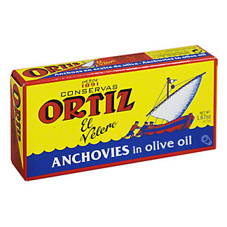 Ortiz Anchovies In Olive Oil - Tin, 47.5GR