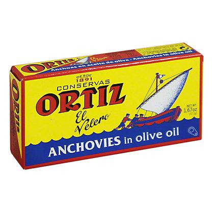 Ortiz Anchovies In Olive Oil - Tin, 47.5GR
