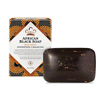 Nubian Heritage African Black Soap with Oats, Aloe, and Vitamin E, 5 oz