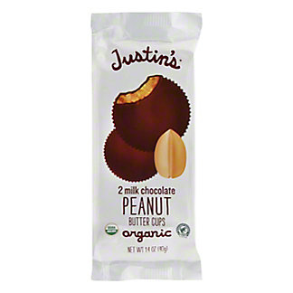 Justin's Organic Milk Chocolate Peanut Butter Cups, 2 ct