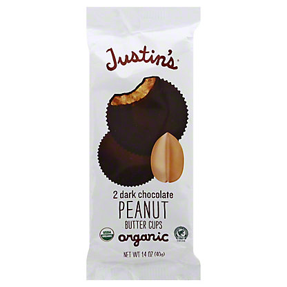 Justin's Organic Dark Chocolate Peanut Butter Cups, 2 ct