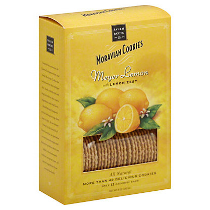 Salem Baking Moravian Cookies Meyer Lemon With Lemon Zest,5 OZ