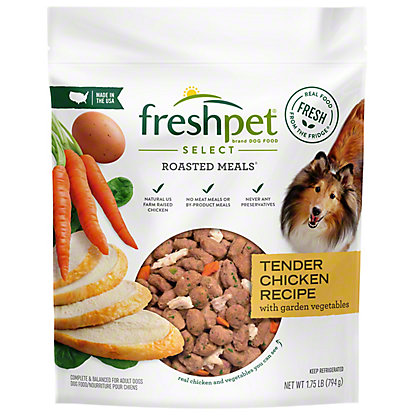 Freshpet Select Roasted Meals Chicken Recipe With Carrots And Spinach Dog Food,1.75 LBS