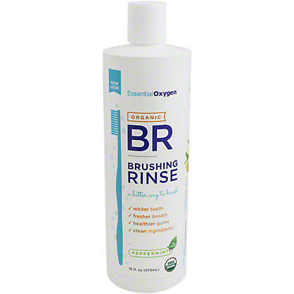 Essential Oxygen Brushing Rinse Peppermint, 16 oz