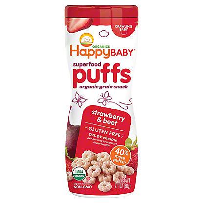 Happy Baby Organics Supefood Puffs Strawberry & Beet, 2.1 oz