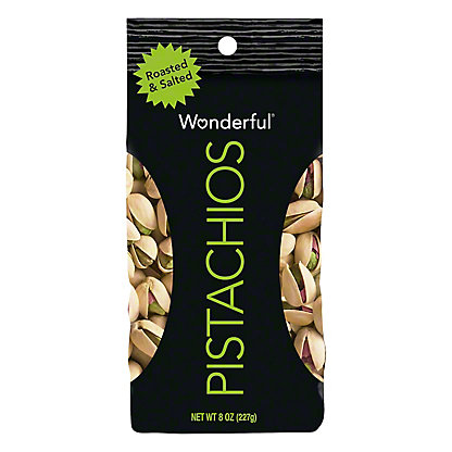 Wonderful Pistachios, Roasted and Salted, 8 oz