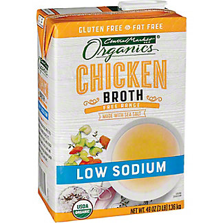 Central Market Organics Low Sodium Free Range Chicken Broth, 48 oz