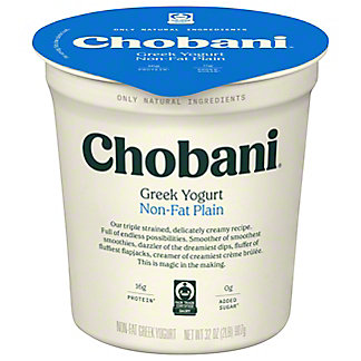 Chobani Non-Fat Plain Greek Yogurt, 32 oz