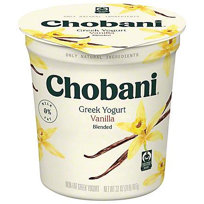 Chobani Non-Fat Vanilla Blended Greek Yogurt, 32 oz