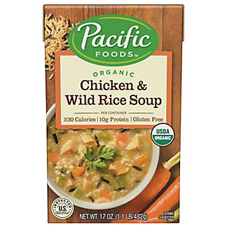 Pacific Foods Organic Chicken and Wild Rice Soup, 17.6 oz